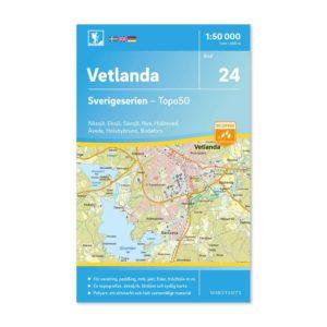 friluftskarta 24 Vetlanda Sverigeserien 150 000 9789113085876
