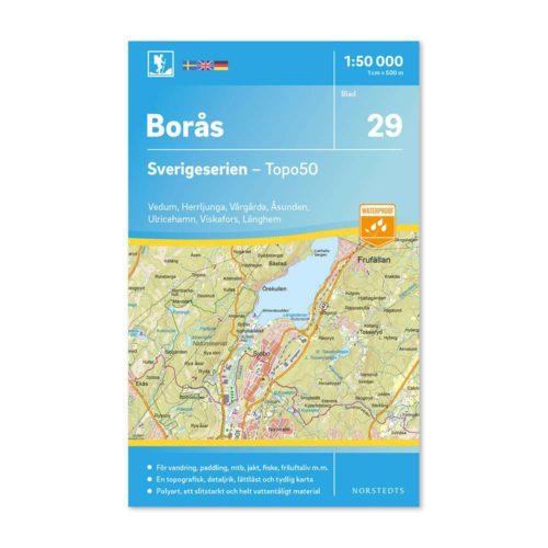 friluftskarta 29 Borås Sverigeserien 9789113085920
