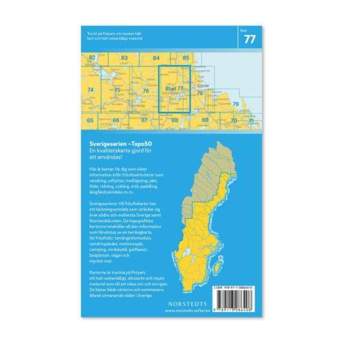 friluftskarta 77 Sandviken Sverigeserien 150 000 art 9789113086408 (2)