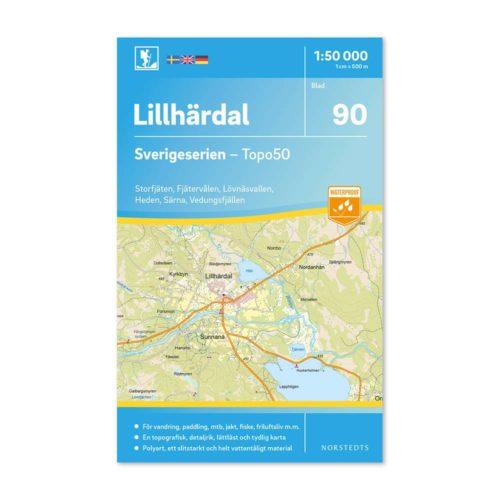 friluftskarta 90 Lillhärdal terrängkarta 9789113086538