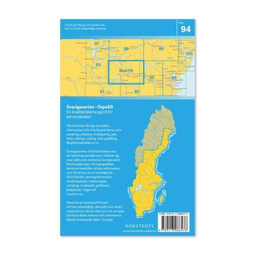 friluftskarta 94 Ånge sverigeserien karta för vandring art.nr 9789113086576 (2)
