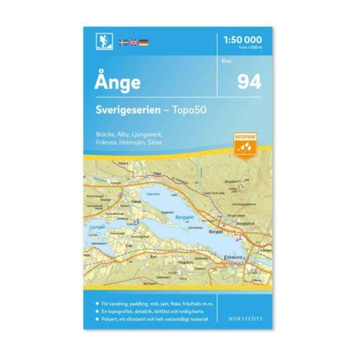friluftskarta 94 Ånge sverigeserien karta för vandring art.nr 9789113086576