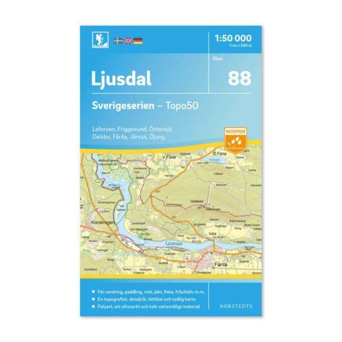 friluftskarta, skridskokarta, vandringskarta artikel 9789113086514 blad 88 Ljusdal Sverigeserien 150 000