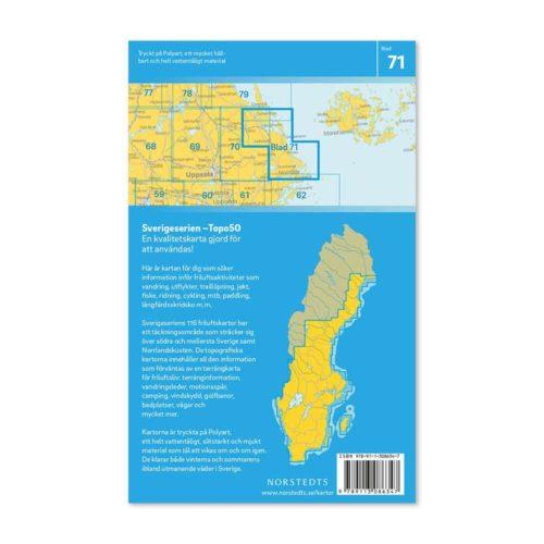 friluftskarta vandringskarta 71 Hallstavik Sverigeserien 150 000 art 9789113086347 (2)
