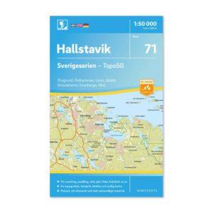 friluftskarta vandringskarta 71 Hallstavik Sverigeserien 150 000 art 9789113086347
