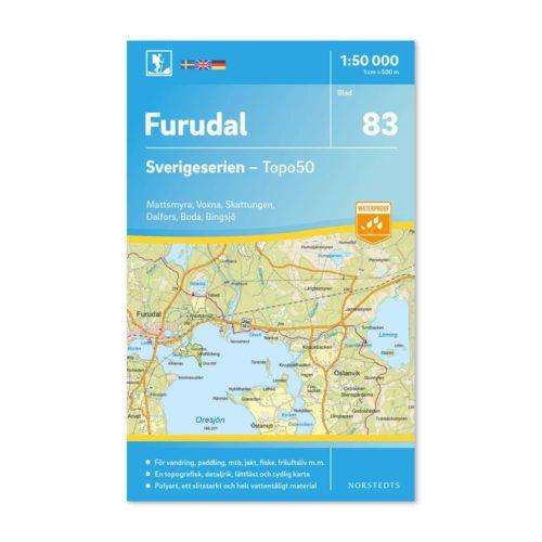 friluftskarta vandringskarta 83 Furudal Sverigeserien 9789113086460 framsida