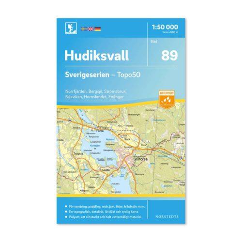 friluftskarta vandringskarta 89 hudiksvall sverigeserien 9789113086521