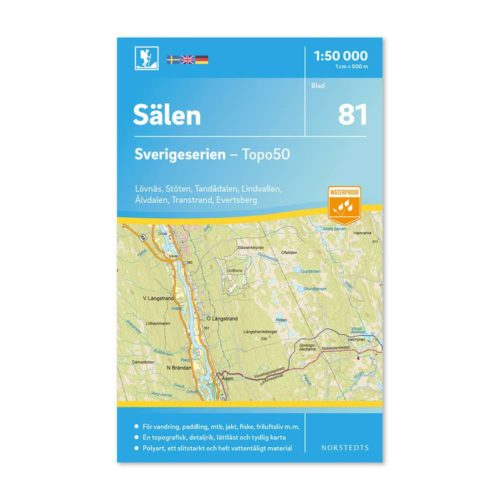 karta vandring 81 Sälen friluftskarta Sverigeserien 9789113086446