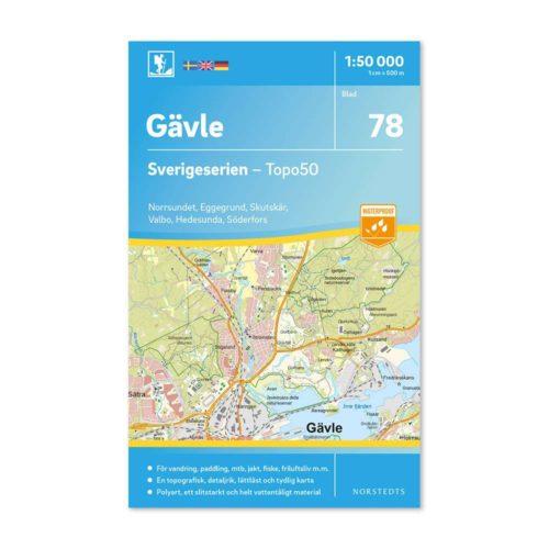 vandringskarta 78 Gävle Sverigeserien 150 000 artikel 9789113086415