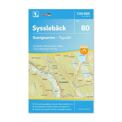 vandringskarta 80 Sysslebäck Sverigeserien 9789113086439