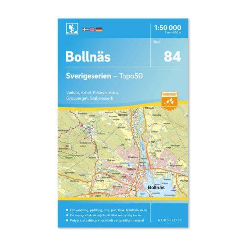 vandringskarta 84 Bollnäs friluftskarta Sverigeserien 150 000 art 9789113086477