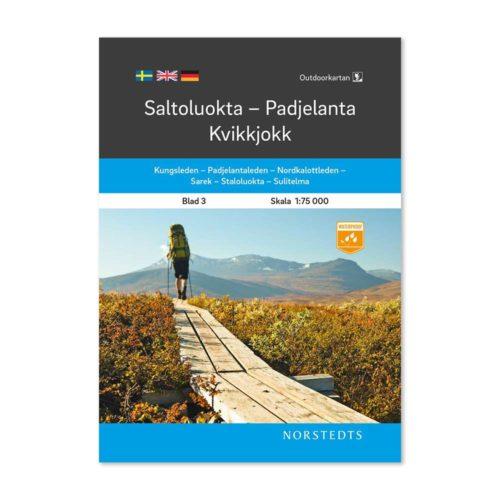 Fjällkarta 3 Saltoluokta Padjelanta Kvikkjokk outdoor map sweden 9789113068152