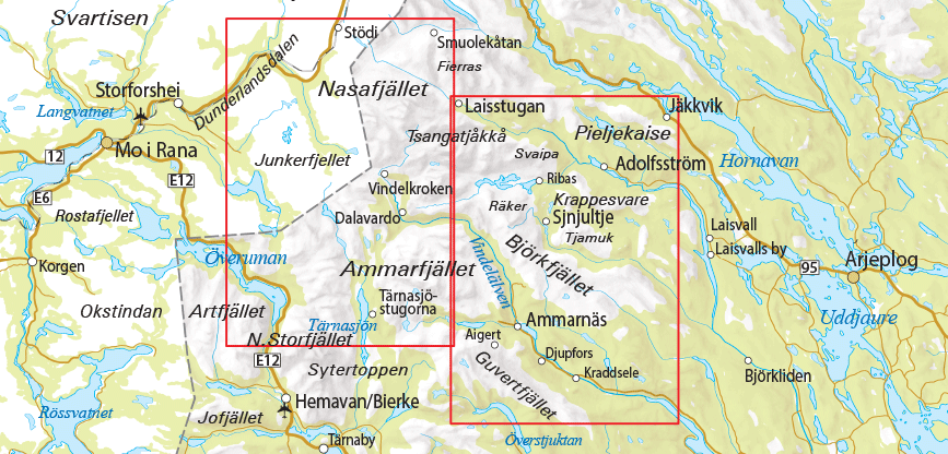 Outdoorkarta 6 Ammarnäs Hemavan Kartkungen