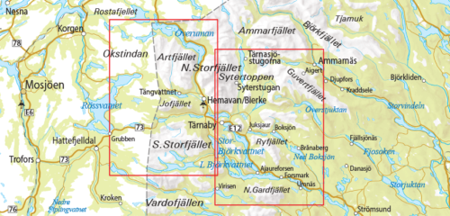 Fjällkarta 6 Ammarnäs-Hemavan-Lill-Björkvattnet framsida västerbotten 9789113068183