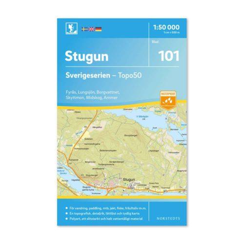 Friluftskarta 101 Stugun Sverigeserien 9789113086644 kaart wandelen zweden