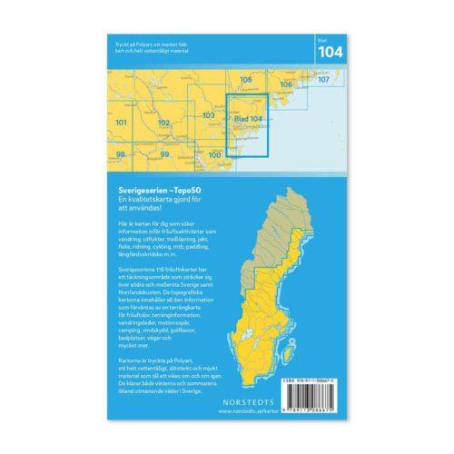 Friluftskarta 104 Örnsköldsvik karta vandra Carte Randonnée Suède 9789113086675 (2)