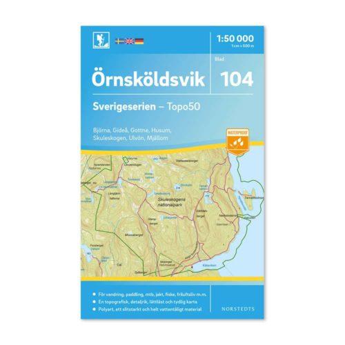 Friluftskarta 104 Örnsköldsvik karta vandra Carte Randonnée Suède 9789113086675