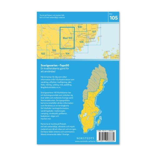 Friluftskarta 105 Bjurholm Sverigeserien Fotturer i den svenske fjellheimen 9789113086682 (2)