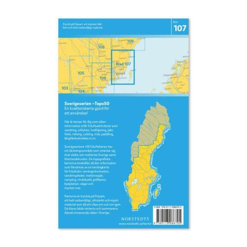 Friluftskarta 107 Umeå Sverigeserien, Vandringskarta, Terrängkarta, Outdoor Map Sweden 9789113086705 (2)