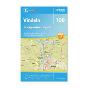 Friluftskarta 108 Vindeln Sverigeserien 9789113086712 Vandringskarta, Terrängkarta, Outdoor Map Sweden, Freizeitkarte Schweden.