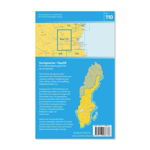 Friluftskarta 110 Boliden Sverigeserien mapa zewnętrzna szwecja art.no 9789113086736 (2)