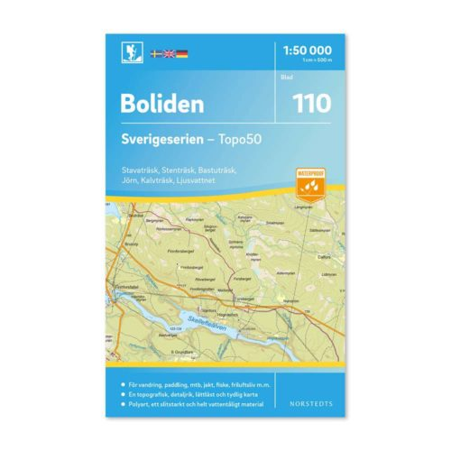 Friluftskarta 110 Boliden Sverigeserien mapa zewnętrzna szwecja art.no 9789113086736
