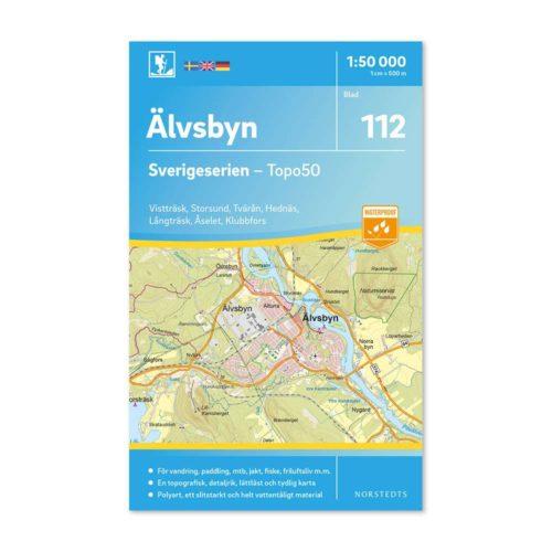 Friluftskarta 112 Älvsbyn Sverigeserien map hike sweden 9789113086750