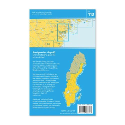 Friluftskarta 113 Piteå Sverigeserien Vandringskarta, Terrängkarta, Outdoor Map Sweden, Freizeitkarte Schweden. 9789113086767 (2)