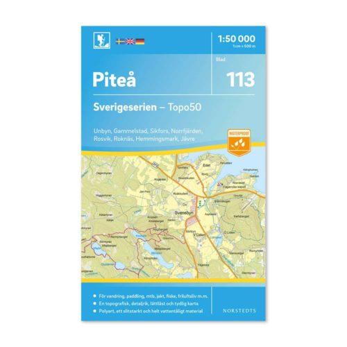 Friluftskarta 113 Piteå Sverigeserien Vandringskarta, Terrängkarta, Outdoor Map Sweden, Freizeitkarte Schweden. 9789113086767