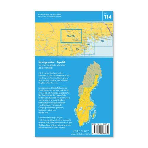 Friluftskarta 114 Boden Sverigeserien Vandringskarta, Terrängkarta, Outdoor Map Sweden, Freizeitkarte Schweden. 9789113086774 (2)