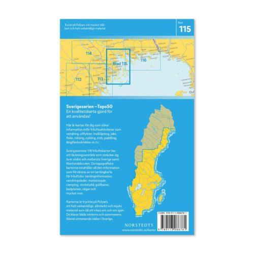 Friluftskarta 115 Luleå Sverigeserien Vandringskarta, Terrängkarta, Outdoor Map Sweden, Freizeitkarte Schweden art 9789113086781 (2)