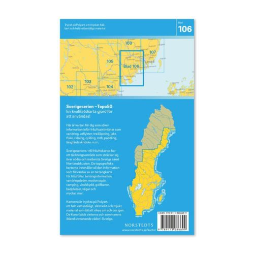 Friluftskarta Vännäs sverigeserien Freizeitkarte Schweden art.nr 9789113086699 (2)