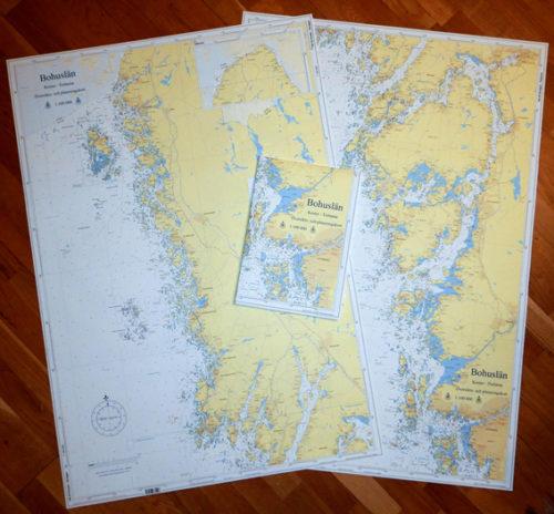 HG93 sjökort papper Bohuslän hydrographica Koster - Tistlarna västkusten