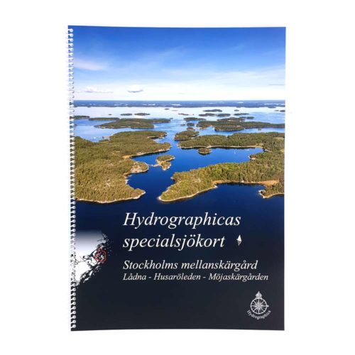 Hydrographica specialbåtsportkort Stockholms Mellanskärgård bild framsida art.nr HG 615 Mellan
