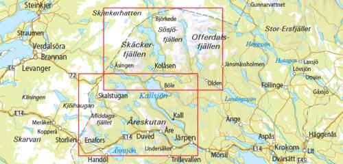 Outdoorkarta 10 Skäckerfjällen-Storlien-Åre