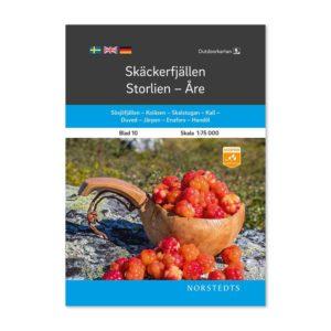 Outdoorkarta 10 fjällkarta Skäckerfjällen-Storlien-Åre framsida 9789113068237