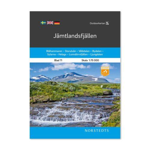 Outdoorkarta 11 Jämtlandsfjällen fjällkarta jämtland 9789113068244 framsida