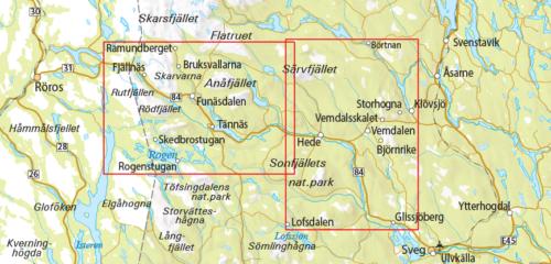 Outdoorkarta 12 Ramundberget-Funäsdalen-Vemdalen 9789113068251