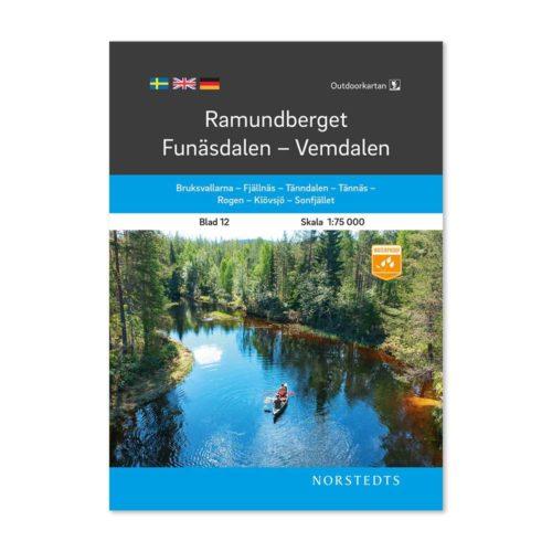 Outdoorkarta 12 Ramundberget-Funäsdalen-Vemdalen framsida fjällkarta sverige 9789113105093