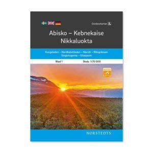 Outdoorkarta Fjällkarta 1 karta över Abisko-Kebnekaise-Nikkaluokta 9789113104980 karta Abisko-Kebnekaise