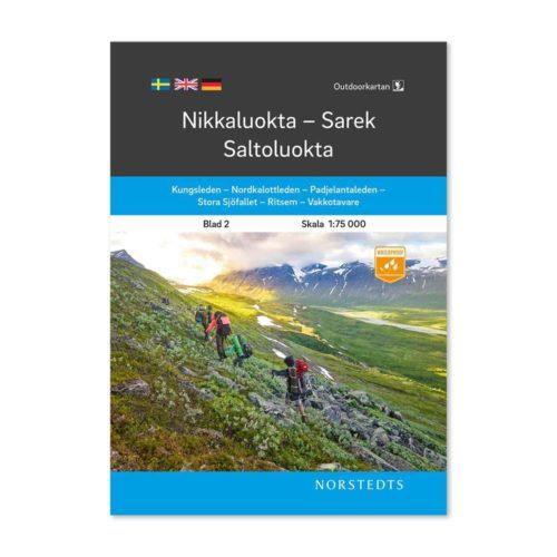 Outdoorkarta Fjällkarta 2 Nikkaluokta Sarek Saltoluokta 9789113068145