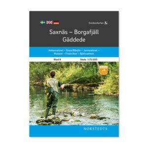 Outdoorkarta Fjällkarta 8 Saxnäs-Borgafjäll-Gäddede Freizeit karte Schweden 9789113068213
