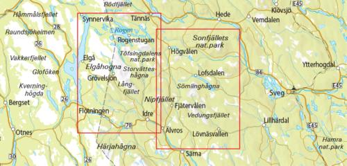 Outdoorkarta fjällkarta sverige 13 Rogen-Grövelsjön-Idre 9789113068268