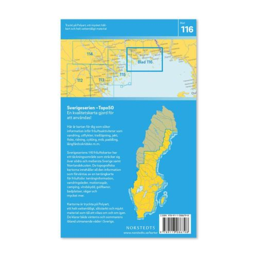 Sverigeserien friluftskarta outdoor 116 kalix artikelnummer 9789113086798 (2)