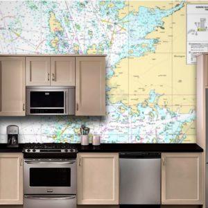 sjökort tapet kortnummer 931 i köket