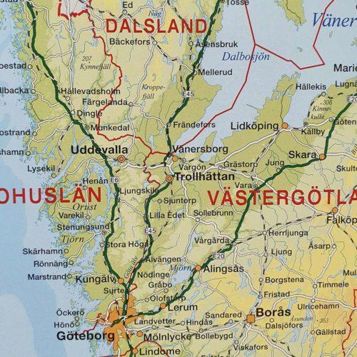 Sverigekarta för vägg-sverige-vit