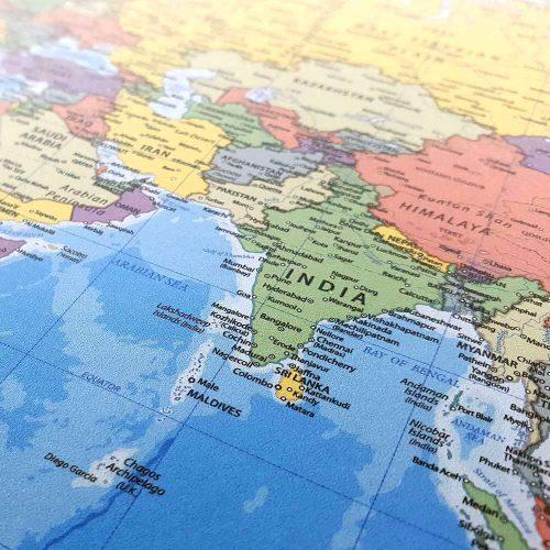 skrivbords underlägg-karta-världen-39cmx49cm