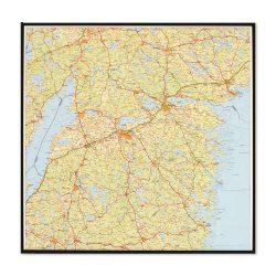 Karta över Östergötlands län för nålar