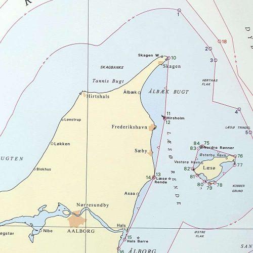 Søkort til væggen D Fiskeri- og territorialgrænser Sort ramme KMS0000D (3)