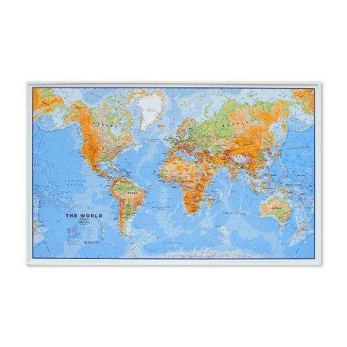 stor-världskarta-över-världen-med-vit-ram-världen-fysisk-för-nålar